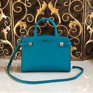 NWT Michael Kors Karla md ew satchel handbag rare